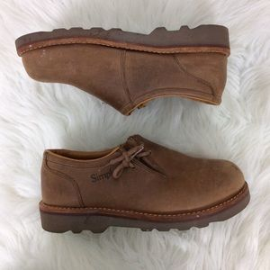 Simple Shoes - Simple Brand Unisex Brown Leather Clogs Shoes